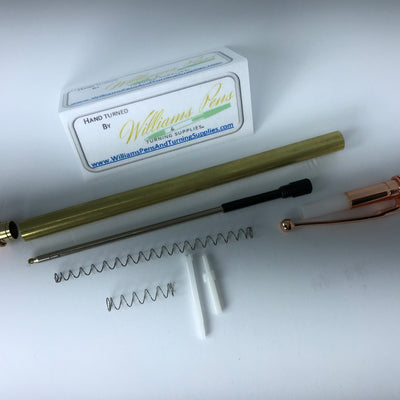 Copper Miracle Click Pen Kit - Williams Pens & Turning Supplies.