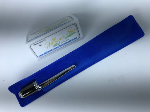 Blue Velvet Pen Sleeve - Williams Pens & Turning Supplies.