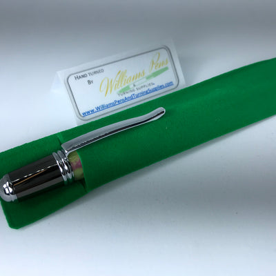 Green Velvet Pen Sleeve - Williams Pens & Turning Supplies.