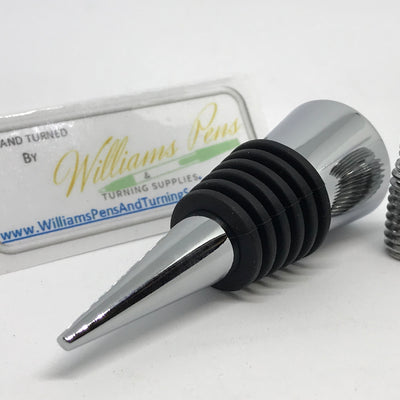 Chrome bottle stopper - Williams Pens & Turning Supplies.