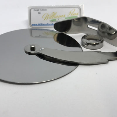 Stainless steel pizza cutter kits (8.5cm dia wheel) - Williams Pens & Turning Supplies.
