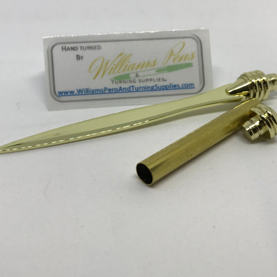 Gold Letter Opener Kits - Williams Pens & Turning Supplies.