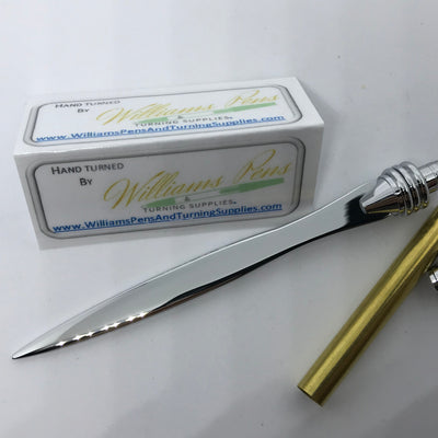 Chrome Letter Opener Kits - Williams Pens & Turning Supplies.