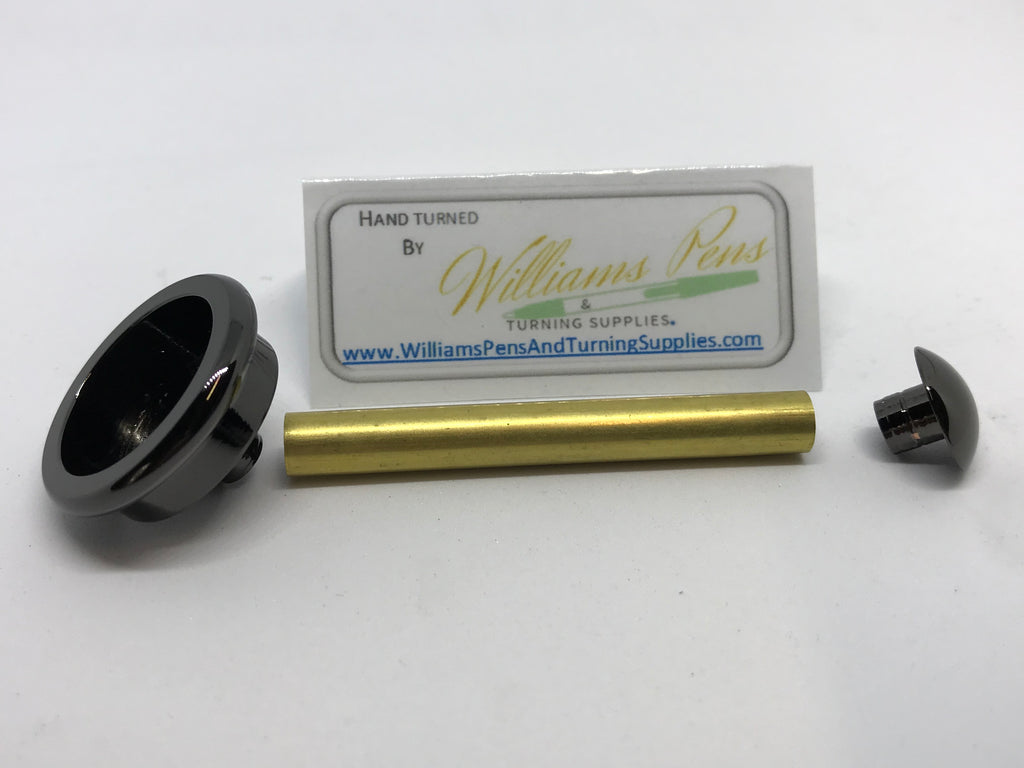 Gun Metal Shaving Brush Hardware Kits - Williams Pens & Turning Supplies.