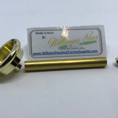 Gold Shaving Brush Hardware Kits - Williams Pens & Turning Supplies.