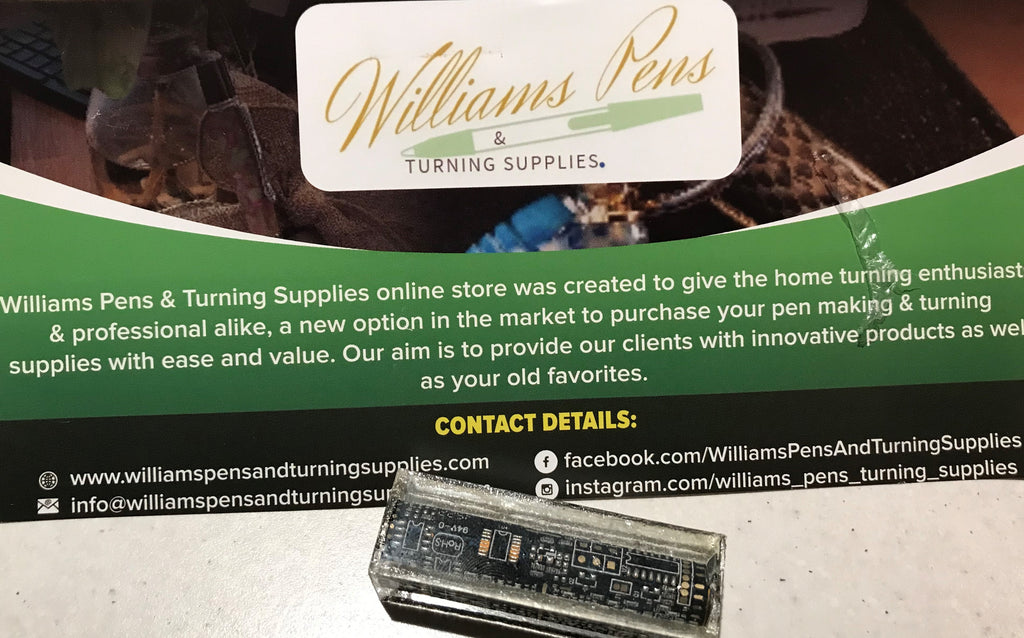 Circuit Board Sierra Blank Black - Williams Pens & Turning Supplies.