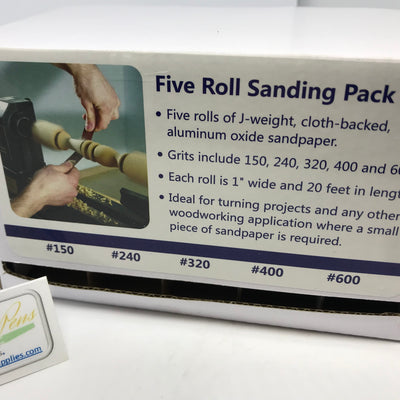 Five Roll Sanding Pack (Abrasive Rolls) - Williams Pens & Turning Supplies.