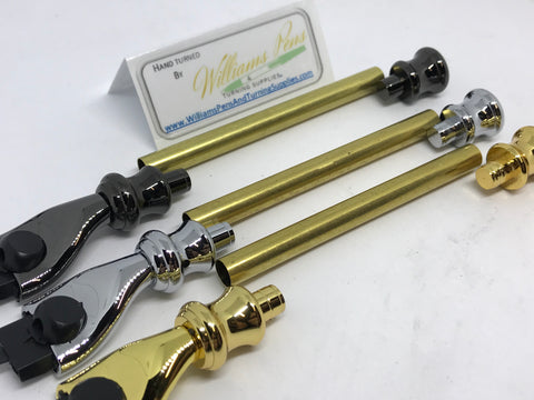 Chrome Razor Shaver Handle Kits - Williams Pens & Turning Supplies.