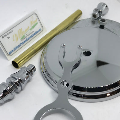 Chrome Shaving Stand Kit - Williams Pens & Turning Supplies.
