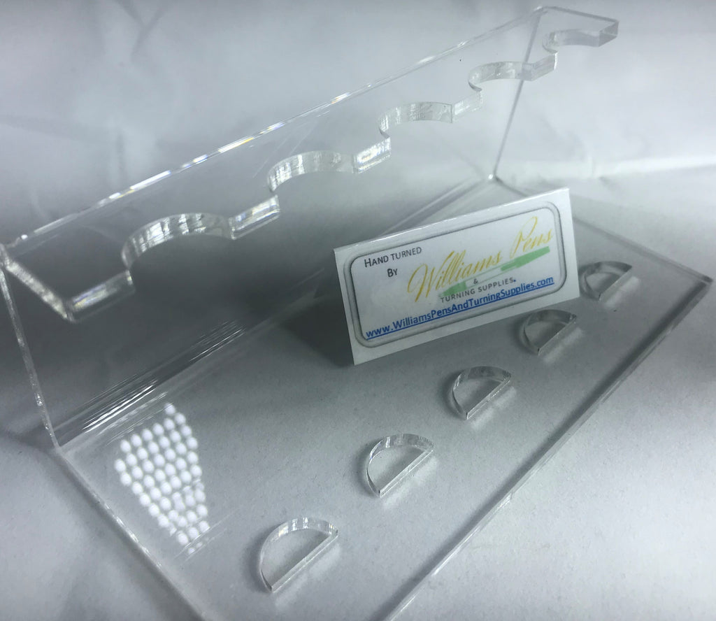 5 Holes Acrylic Pen Display Stand - Williams Pens & Turning Supplies.