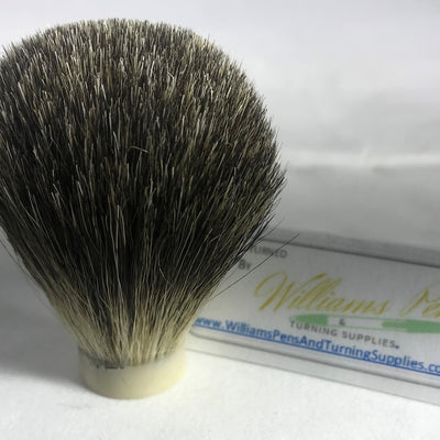 Mixed Badger Hair Knot for Shaving Brush Kit - Williams Pens & Turning Supplies.