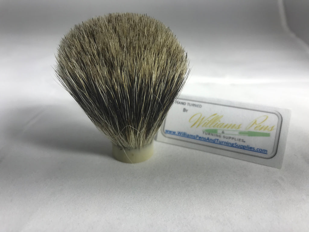 Pure Badger Hair Knot for Shaving Brush Kit - Williams Pens & Turning Supplies.