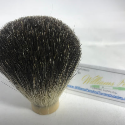 Black Badger Hair Knot for Shaving Brush Kit - Williams Pens & Turning Supplies.