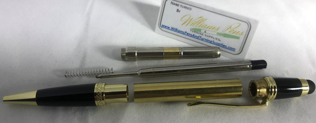 Gold Sierra Touch Stylus Pen Kits - Williams Pens & Turning Supplies.