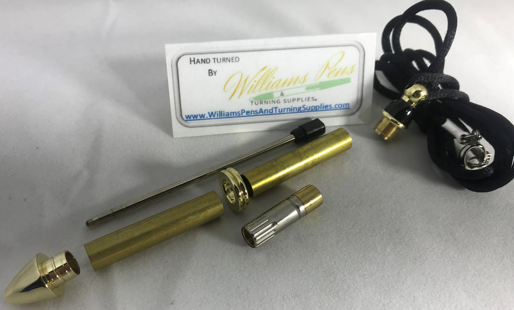Gold Mini Necklace Pen Kits - Williams Pens & Turning Supplies.