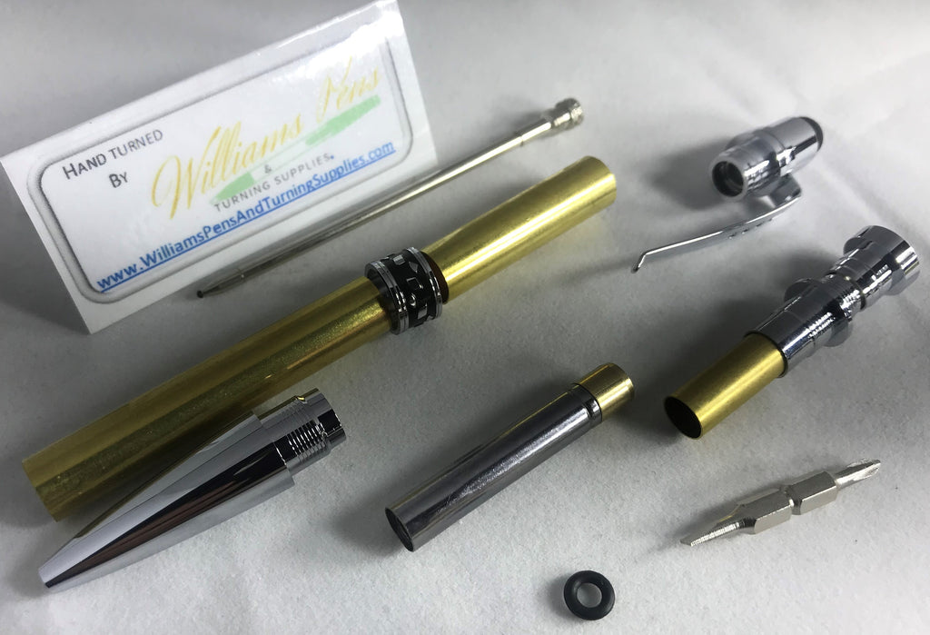 Chrome Screwdriver Stylus Pen Kits - Williams Pens & Turning Supplies.