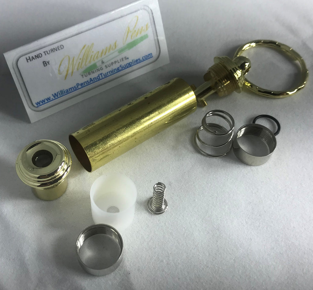 Gold Mini Penlight Key Chain Kit - Williams Pens & Turning Supplies.