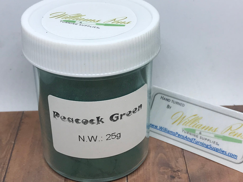 Mica Pigment 3# Peacock green - Williams Pens & Turning Supplies.