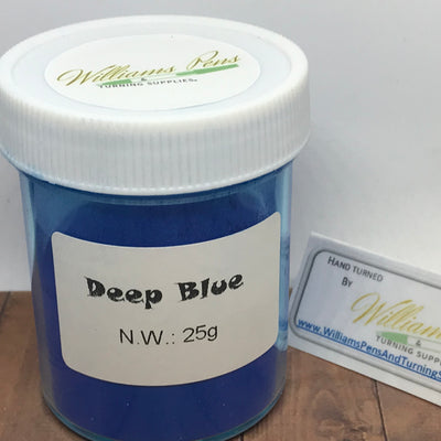Mica Pigment 6# Deep blue - Williams Pens & Turning Supplies.