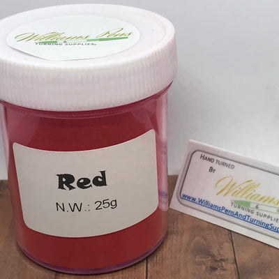 Mica Pigment 9# Red - Williams Pens & Turning Supplies.