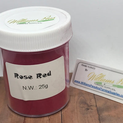 Mica Pigment 11# Rose red - Williams Pens & Turning Supplies.