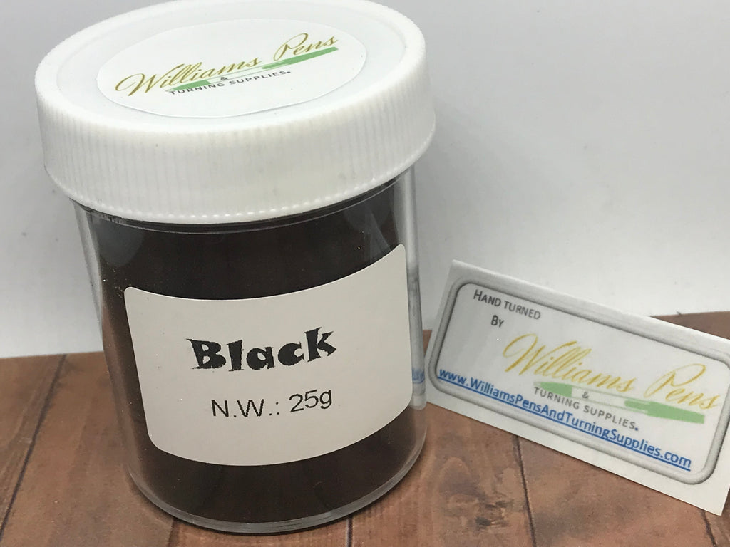 Mica Pigment 26# Black - Williams Pens & Turning Supplies.