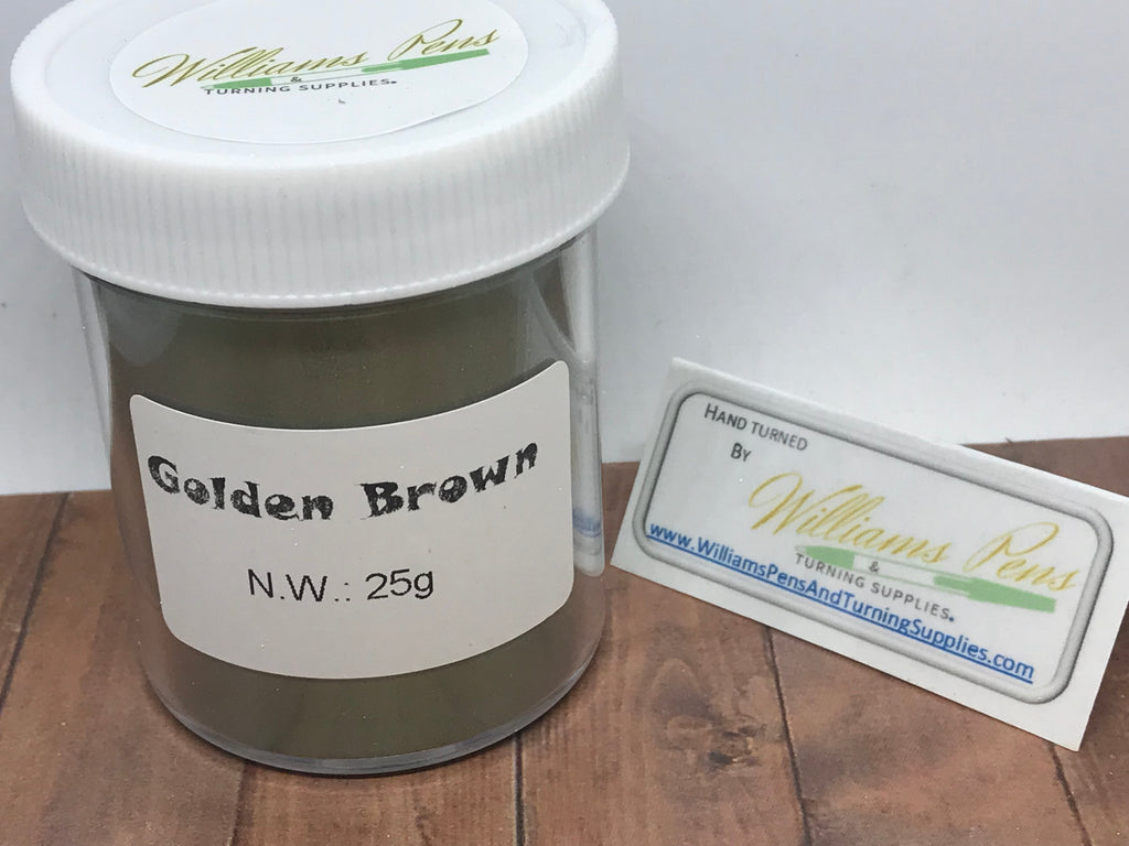 Mica Pigment 27# Golden Brown - Williams Pens & Turning Supplies.