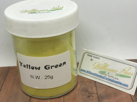 Mica Pigment 28# Yellow Green - Williams Pens & Turning Supplies.
