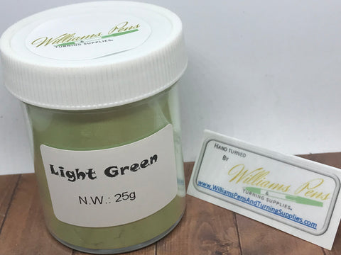 Mica Pigment 29# Light Green - Williams Pens & Turning Supplies.