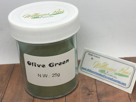 Mica Pigment 32# Olive Green - Williams Pens & Turning Supplies.
