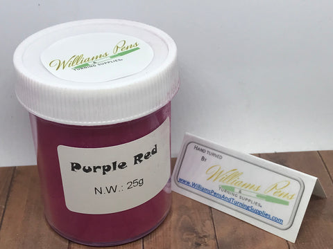 Mica Pigment 41# Purple Red - Williams Pens & Turning Supplies.
