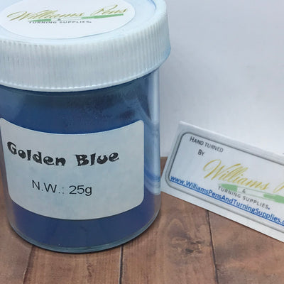Mica Pigment 44# Golden Blue - Williams Pens & Turning Supplies.