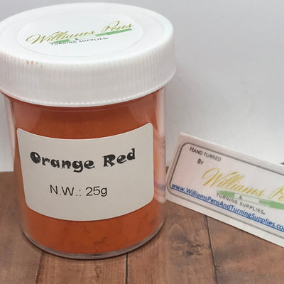 Mica Pigment 47# Orange Red - Williams Pens & Turning Supplies.