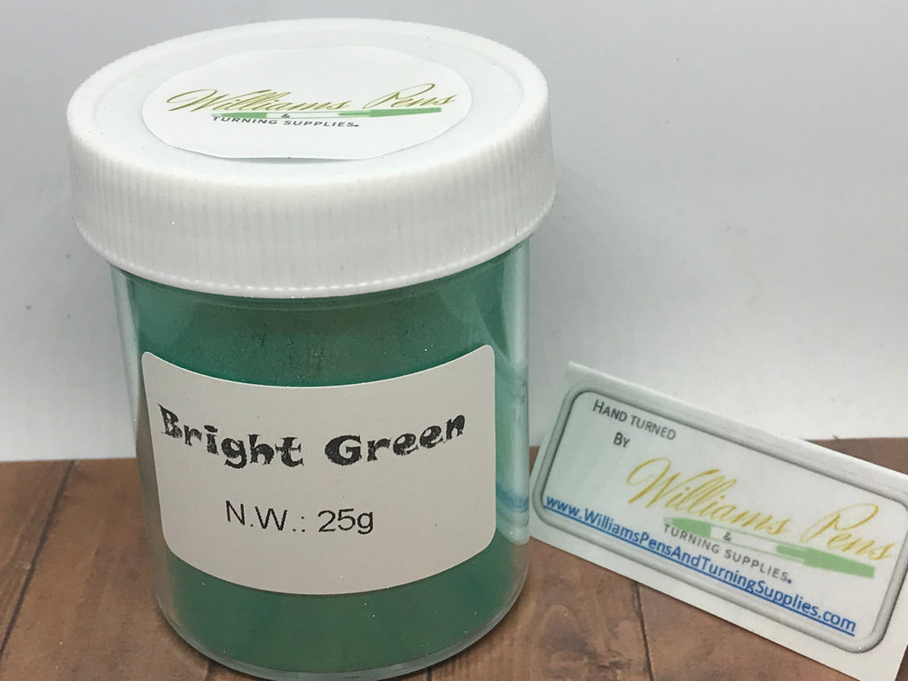 Mica Pigment 50# Bright Green - Williams Pens & Turning Supplies.