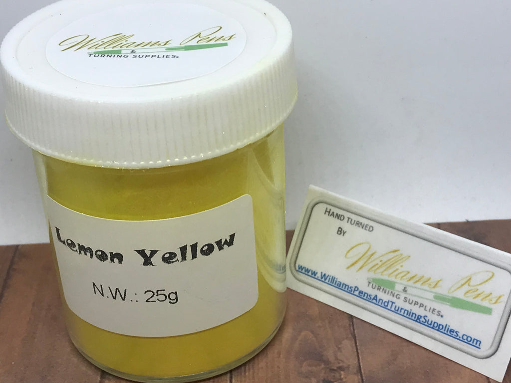 Mica Pigment 51# Lemon Yellow - Williams Pens & Turning Supplies.