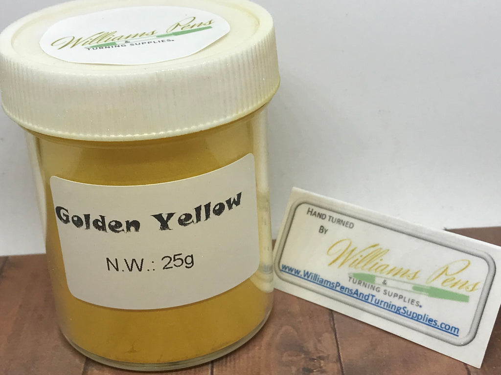 Mica Pigment 52# Golden Yellow - Williams Pens & Turning Supplies.