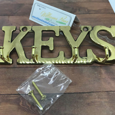 """Keys"" Hangers Brass - Williams Pens & Turning Supplies."