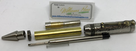 Antique Silver & Antique Bronze Polish Pirate Panic Pen Kits - Williams Pens & Turning Supplies.
