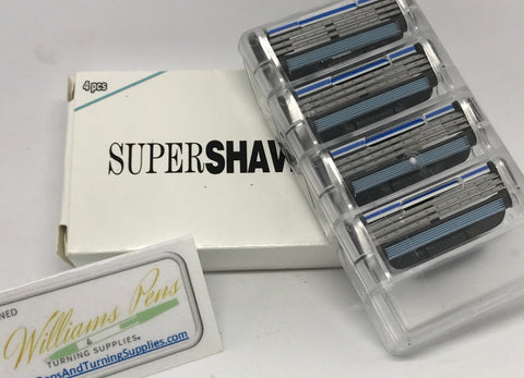 Razor blades for razor handle kit 4 pack (Mach 3 style) - Williams Pens & Turning Supplies.