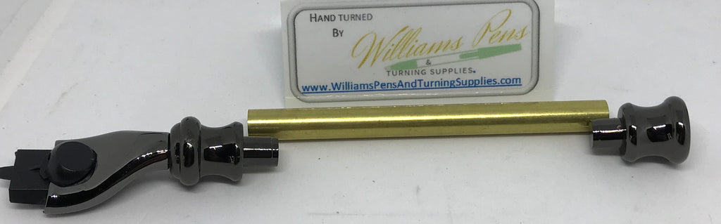Gun Metal Razor Shaver Handle Kits - Williams Pens & Turning Supplies.