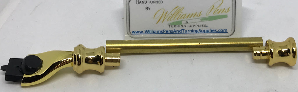 Gold Razor Shaver Handle Kits - Williams Pens & Turning Supplies.