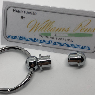 Chrome Key Ring Kit - Williams Pens & Turning Supplies.