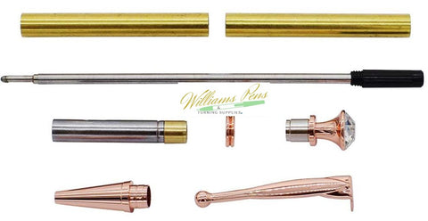 Copper Fancy Lady Pen Kits - Williams Pens & Turning Supplies.