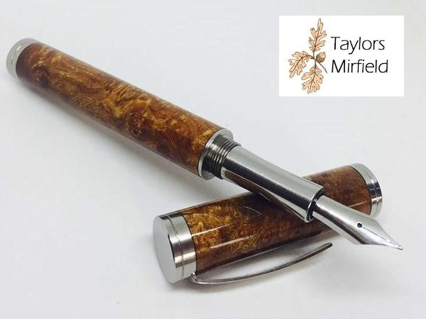 MK2 Shakespeare Fountain Pen Polished by British Made Pen Kits