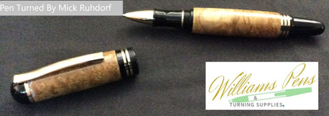 Silver Churchill Rollerball Pen Kit - Williams Pens & Turning Supplies.