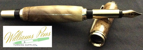 Chrome Upgraded I Fountain Jr. Gentleman Pen Kit - Williams Pens & Turning Supplies.