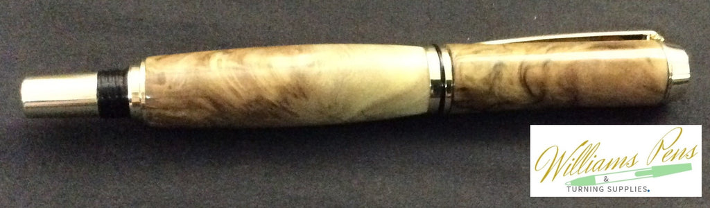 Gold Upgraded I Fountain Jr. Gentleman Pen Kit - Williams Pens & Turning Supplies.