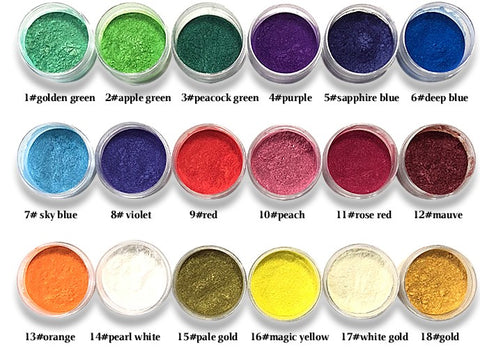 Mica Pigment 1# Golden green - Williams Pens & Turning Supplies.