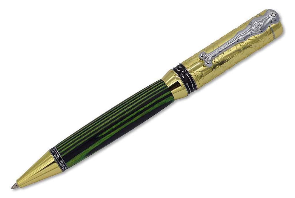 Chrome & Gold Pirate Panic Pen Kits - Williams Pens & Turning Supplies.