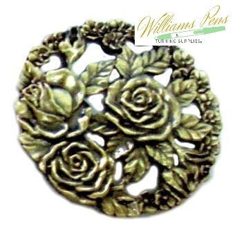 Pot Pourri Lid Pewter 3 Roses